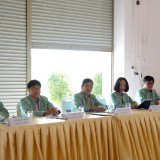 การประชุมชี้แจงผู้สมัครรับเลือกตั้งสมาชิกสภาเทศบาลและนายกเทศมนตรี ตามโครงการให้ความรู้เกี่ยวกับการเลือกตั้งเชิงสมานฉันท์